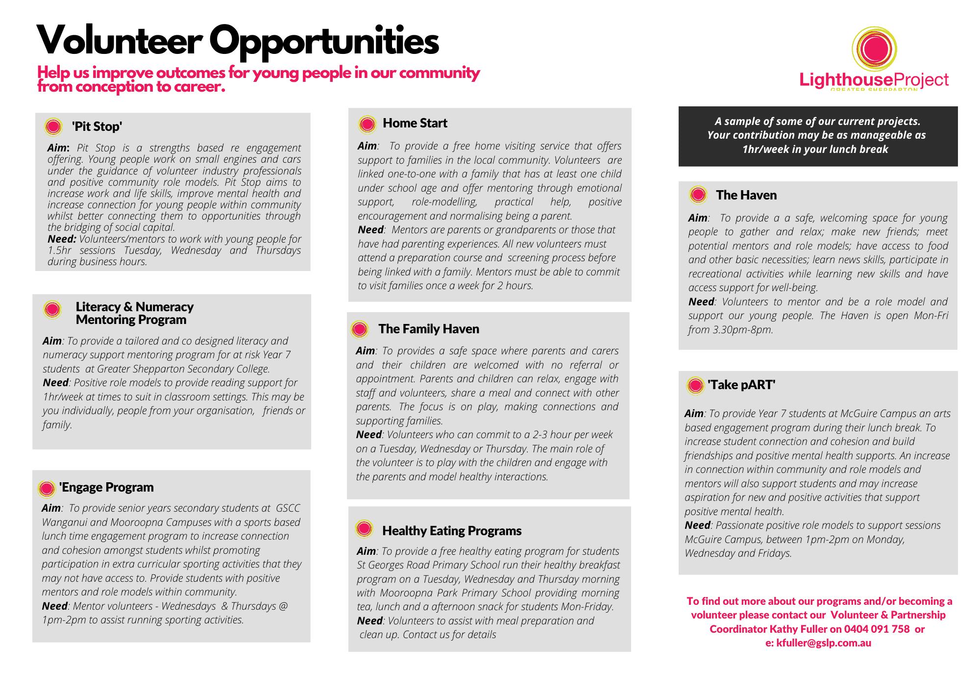 2021 Join Us Volunteer Brochure