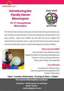 Family Haven info sheet services