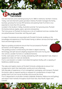 Plunkett Orchards profile flyer