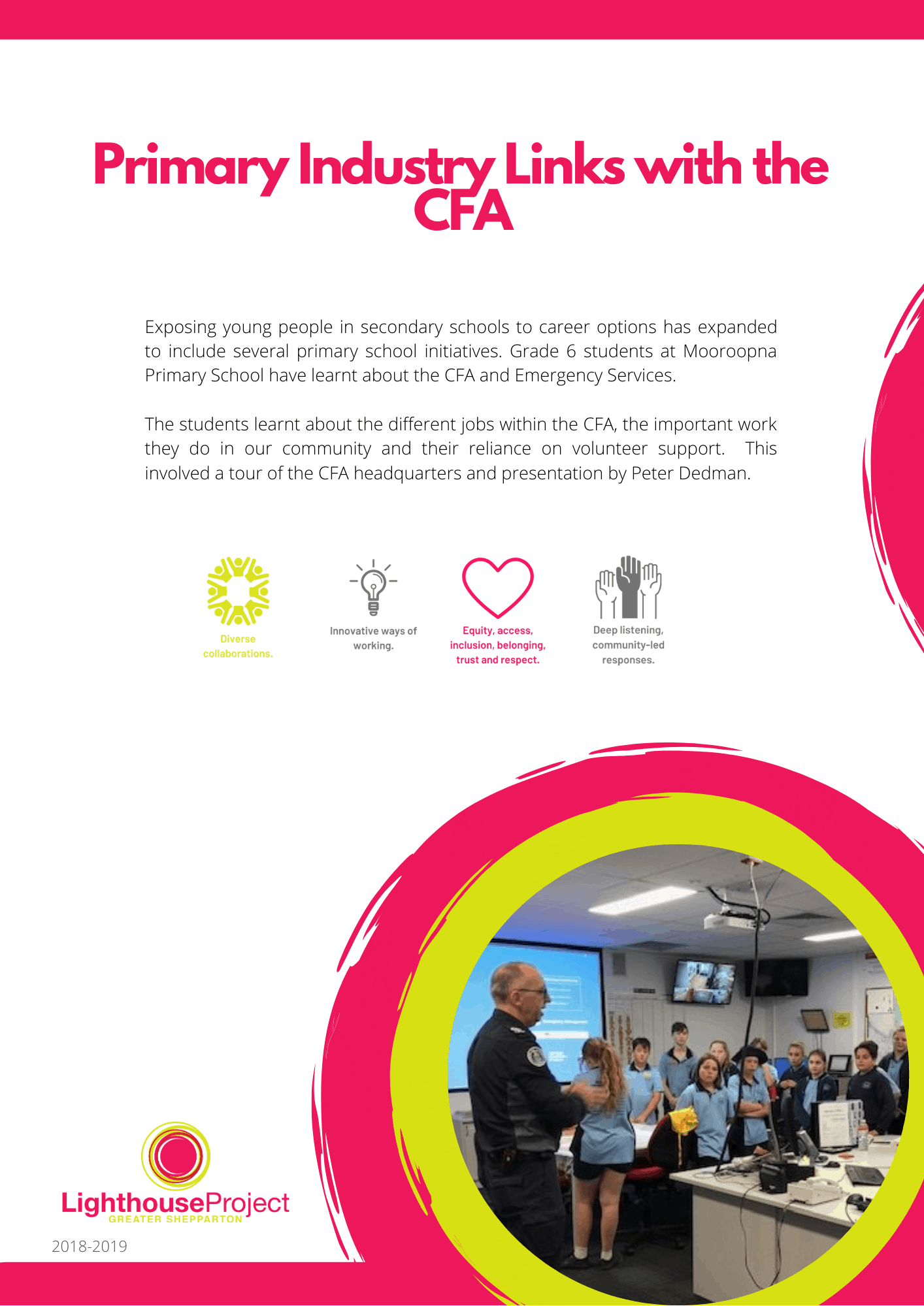 Primary industry links with the CFA image
